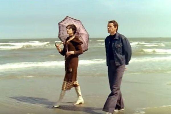 """Jacques Brel et Barbara dans le film """"Franz"""""""
