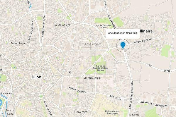 L'accident s'est produit à hauteur de Saint-Apollinaire