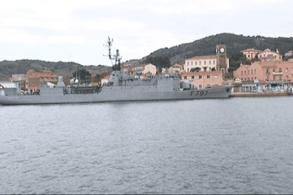 Le Commandant Bouan est un ancien chasseur de sous-marin. Port-Vendres le 27 mars 2014.