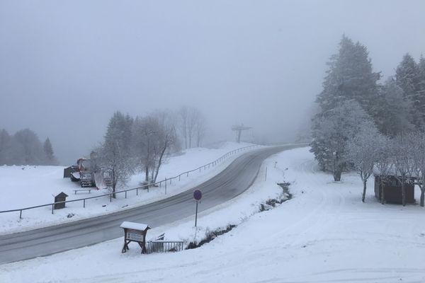 A Belmont, au départ des pistes de ski de fond, mercredi 2 décembre 2020