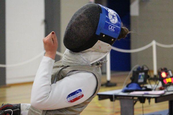 Cyrielle Dardé, à Limoges, au Championnats de France en mai 2018