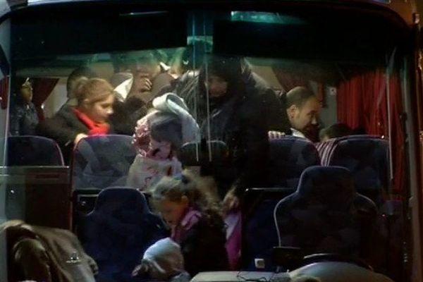 L'arrivée de 43 migrants à Saint-Nazaire le lundi 25 janvier 2016