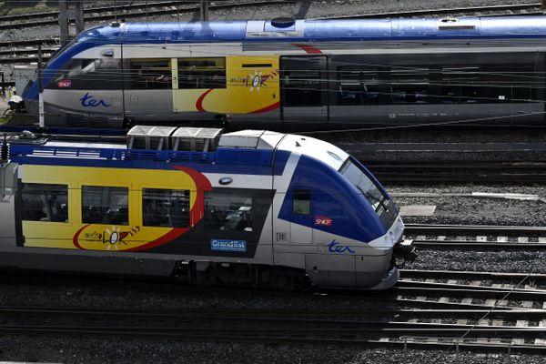 Un train express régional de la région Grand Est