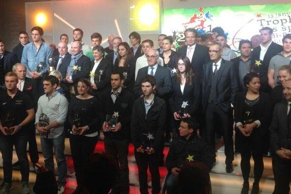 Lors de la soirée des Trophées des Sports à la région en janvier 2014