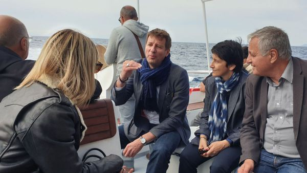 Yannick Jadot le 3 mai dernier en Haute-Corse, au côté de François Alfonsi et de Fabienne Giovannini