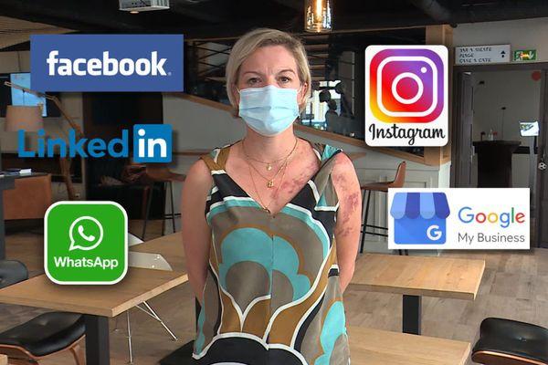 Les réseaux sociaux utilisés au quotidien par cette cadre pour doper son activité professionnelle.