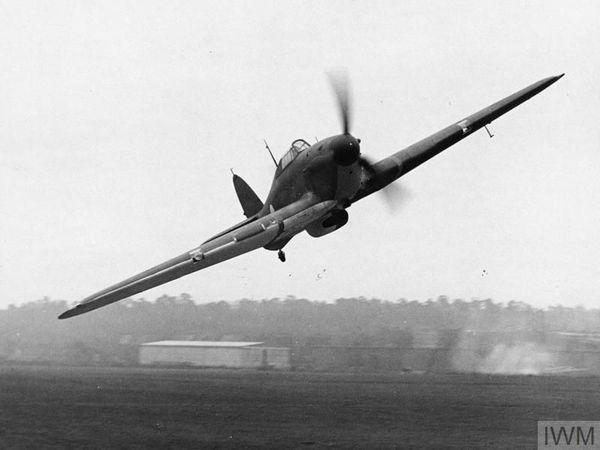 Un Hawker Hurricane du 56 Squadron photographié en avril 1940.