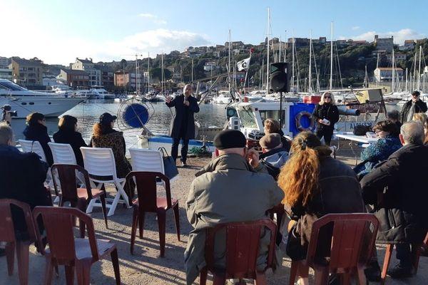 Don-Mathieu Santini, candidat sur la liste Purtivechju da fà à Porto-Vecchio, organisait dimanche une réunion publique.