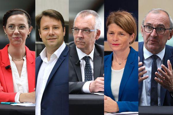 De g à d : Claire Desmares-Poirrier, Loïg Chesnais-Girard, Thierry Burlot, Isabelle Le Callennec, Gilles Pennelle