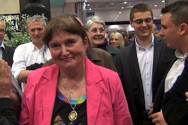 Luce Pane, le soir de son élection à la tête de la mairie de Sotteville-lès-Rouen (mars 2014)