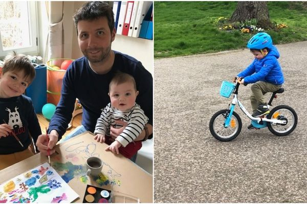 Clément Meunier, confiné avec ses deux fils de 6 mois et quatre ans. Un changement de rythme radical.