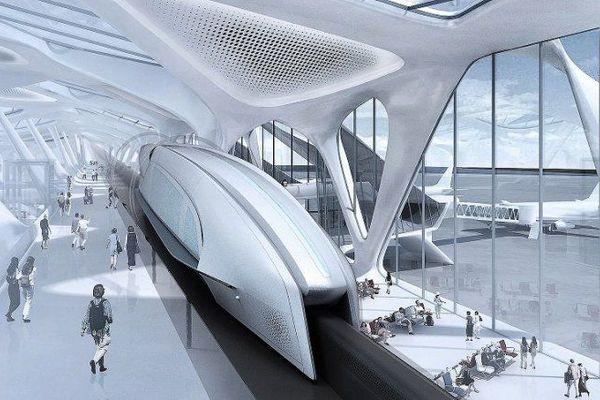 Maquette de la gare du spacetrain.