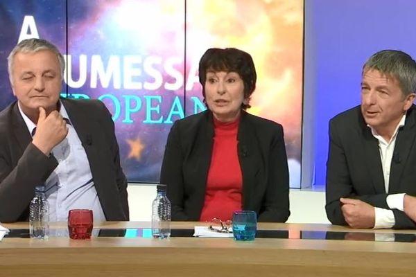 François Alfonsi (EELV), Anne-Marie Luciani (Génération S), et Didier Medori (LREM) sur le plateau de Cuntrastu, ce soir à 20h45