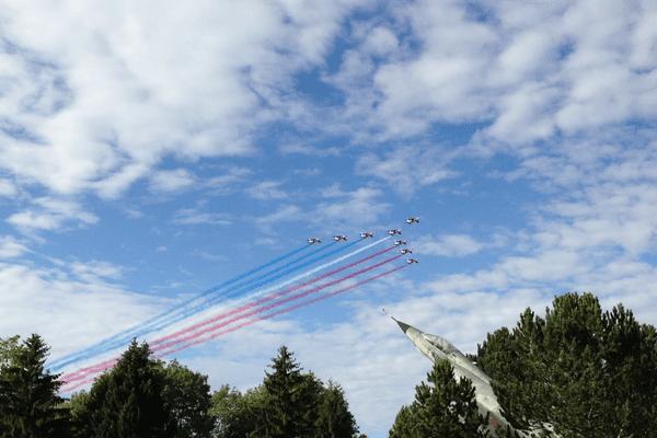 Passage de la Patrouille de France au dessus de la BA133 de Nancy-Ochey, le 29 septembre 2015.