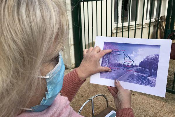 Catherine Frau, voisine du projet, a établi ces plans pour rendre compte des dimensions du projet.
