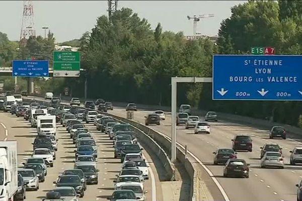 Le trafic sur l'A7 ce samedi matin 18 août