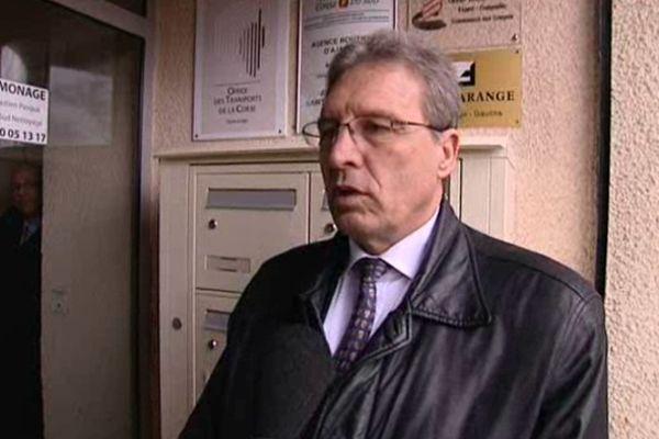 Marc Dufour à Ajaccio le 14 janvier répond aux questions du journaliste Alain Verdi