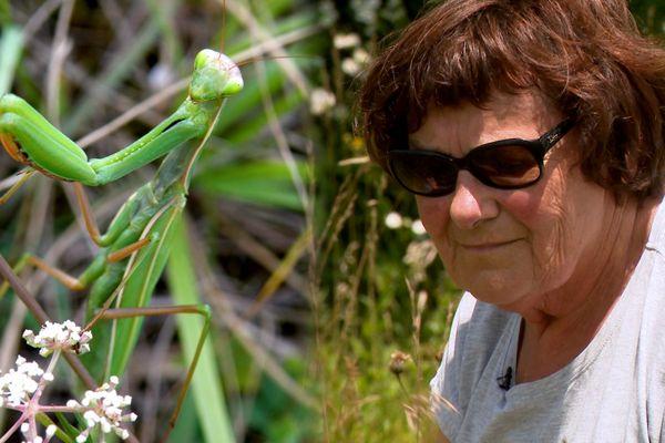 Agnès Greset est retraitée, elle participe régulièrement aux enquêtes participatives du conservatoire botanique national de Franche-Comté et de l'observatoire régional des Invertébrés. L'objectif de ces enquêtes, récupérer le plus de données possible sur des dizaines d'espèces de plantes et d'insectes de la région, comme la mante religieuse.