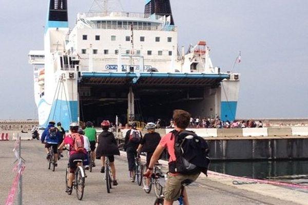 """En 2014, les """"Vélotouristes"""" 2014 ont longés les quais du Grand Port Maritime"""