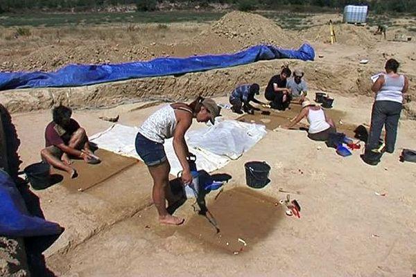 Poilhes (Hérault) - des traces de vie d'il y a 30.000 ans - 2016.