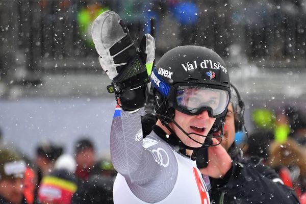 Clément Noël après sa deuxième course au Slalom de la Coupe du monde FIS de Ski Alpin en Autriche, le 21 janvier 2018.