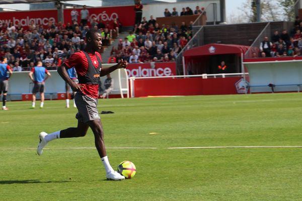Nicolas Pépé, ici à l'entraînement à Luchin en avril dernier, n'est toujours pas fixé sur son avenir.