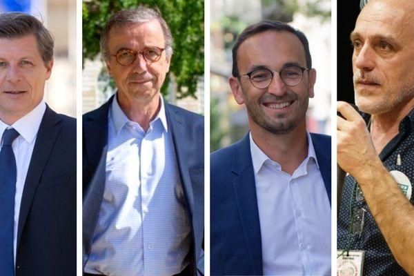 Bordeaux : les 4 candidats du second tour des élections municipales - Nicolas Florian/Pierre Hurmic/Thomas Cazenave/Philippe Poutou