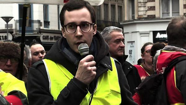 """Francois Boulo porte-parole des """"gilets jaunes"""" de Rouen"""