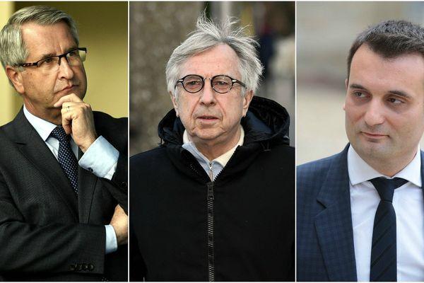 Philippe Richert, Jean-Pierre Masseret et Florian Philippot, têtes de liste lors des élections régionales de 2015 dans le Grand Est.