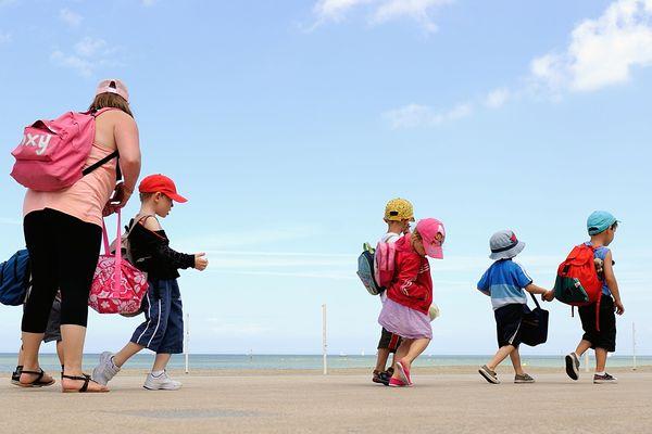 Colonie de vacances à Bray-Dunes en juillet 2013.