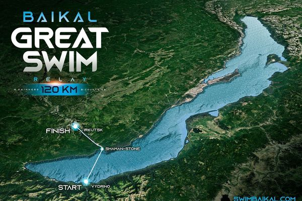 relais de natation pour le lac Baïkal