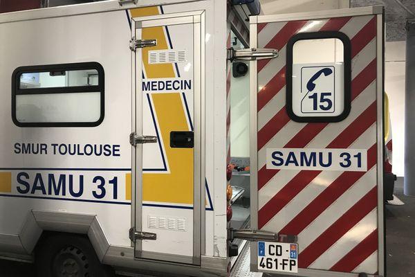 Camion Smur Samu Toulouse hôpital Purpan
