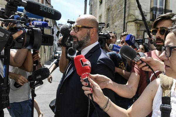 L'avocat de Marcel Jacob, Stéphane Giuranna arrive à la cour d'appel de Dijon, vendredi 16 juin 2017.