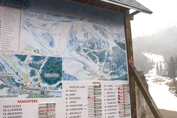 Plan des pistes Ascou