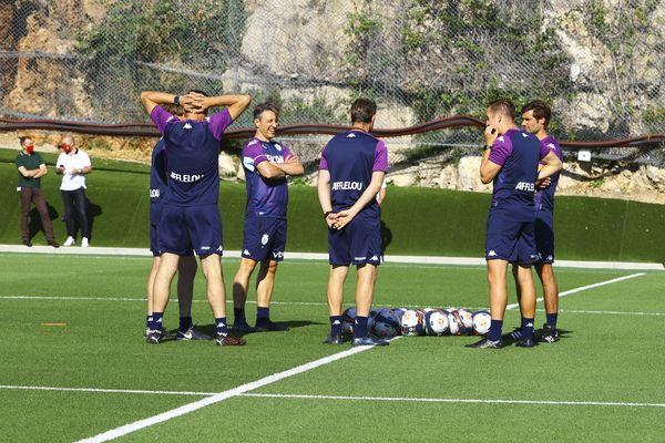 La Turbie le 26 juin dernier, premier entraînement de la saison pour l'AS Monaco avec Niko Kovac.