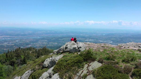 Vue sur la vallée du Rhône depuis le parc naturel régional du Pilat