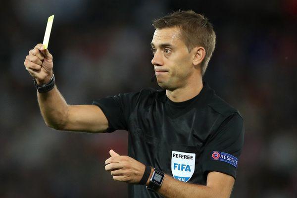 L'arbitre Clément Turpin, le 11 septembre 2018.