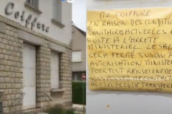 La crise sanitaire a engendré un arrêt de l'activité de Béatrice, artisan-coiffeur à Dijon