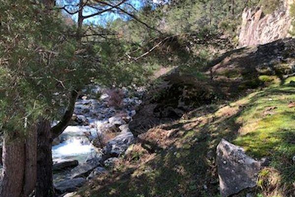 La très populaire vallée de la Restonica, dont l'accès, durant l'été, est payant.