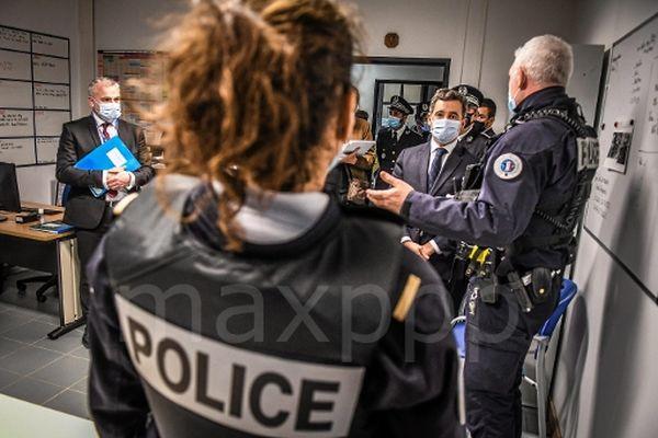 Gérarld Darmanin en visite à Nîmes annonce un renfort de 14 policiers / 1 mars 2021