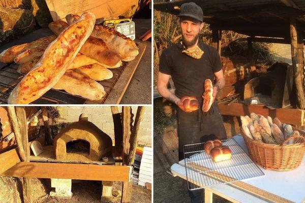 Anthony, ses baguettes à l'ancienne encore chaudes et son four à pain artisanal.