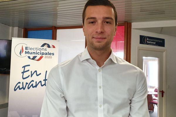 Jordan Bardella, vice-président du Rassemblement National lors d'une intervention en Ille-et-Vilaine