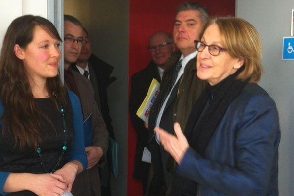 La ministre de la réforme de l'Etat, de la Décentralisation et de la Fonction Publique, Marylise Lebranchu en visite à Châlons-en-Champagne