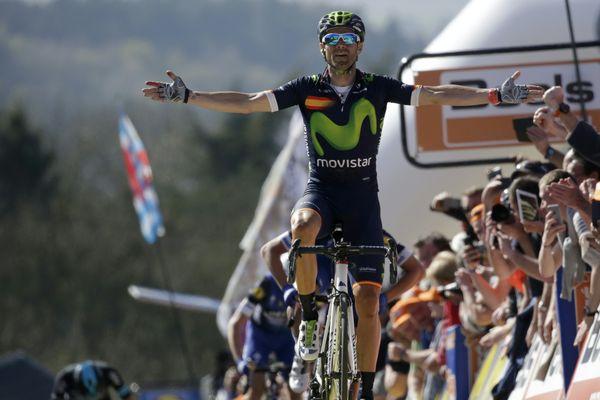 Valverde,  vainqueur 2016 de la Flèche wallonne. Une course en direct streaming avec France Tv sport