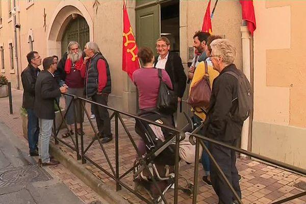 Manifestation des calendrettes à Carcassonne contre la fin des contrats aidés - 26 septembre 2017