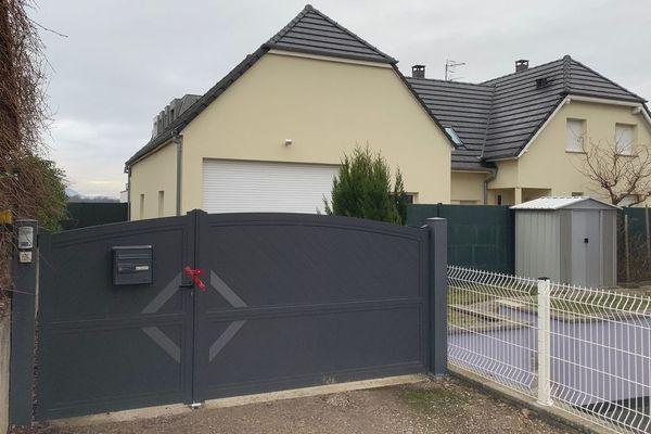 La maison où s'est déroulée le drame rue Curie à Ingersheim