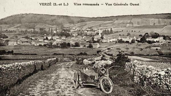 Carte postale de Verzé par Jean-Marie Combier