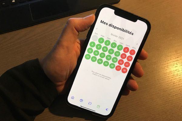 L'application permet d'organiser son planning pour pouvoir recevoir les colis