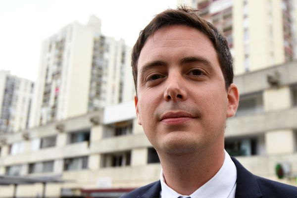 Yoann Gillet (RN), conseiller régional d'Occitanie et conseiller municipal de Nîmes. Mai 2017.