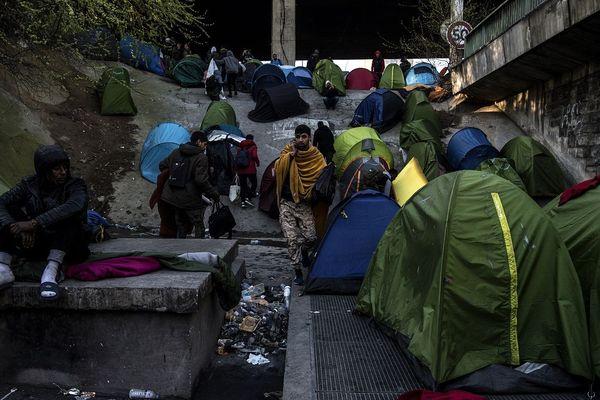 Ce campement de migrants Porte de la Chapelle à Paris a été évacué en novembre dernier.